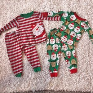 Carters Christmas pajamas- 2 pairs- 18 month